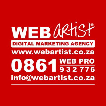 WEB ARTIST® - logo on red